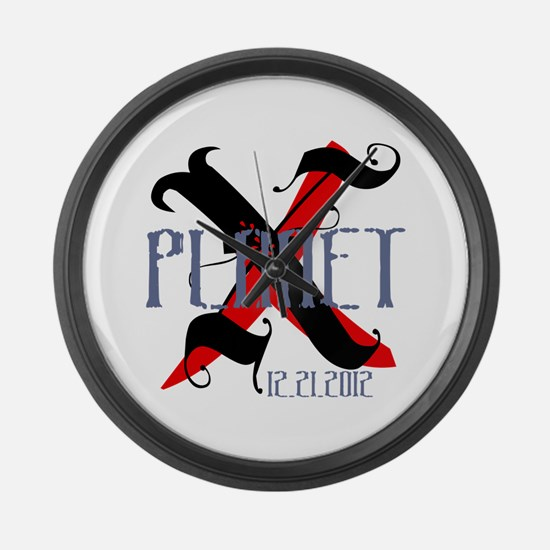 Planet X 12.21.2012 Large Wall Clock