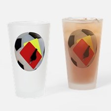 Football- cards-whistle Drinking Glass