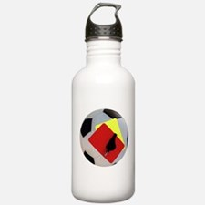 Football- cards-whistle Water Bottle