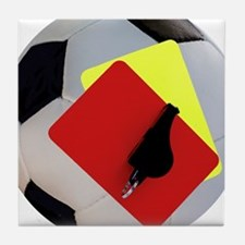 Football- cards-whistle Tile Coaster