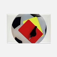 Football- cards-whistle Rectangle Magnet