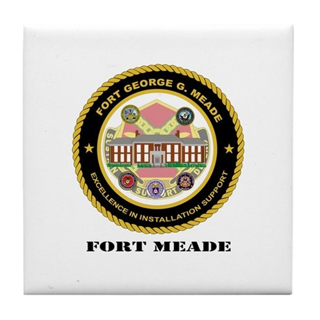 Fort Meade with Text Tile Coaster