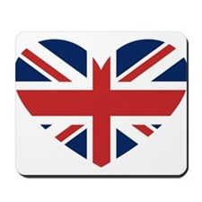 Union Jack Heart Mousepad