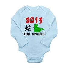 Cute Year of The Snake 2013 Long Sleeve Infant Bod