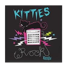 Kitties Rock Tile Coaster