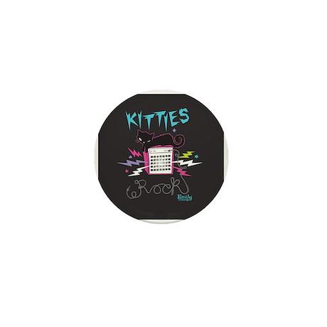 Kitties Rock Mini Button
