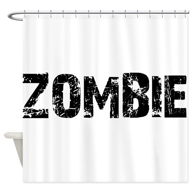 Zombie Shower Curtain By RadioactiveOverdrive