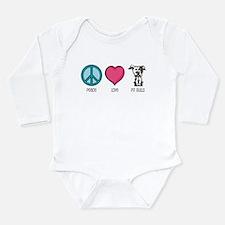 Cute Pit bull mom Long Sleeve Infant Bodysuit