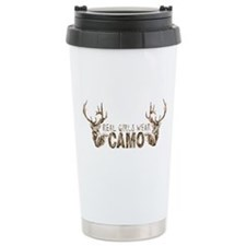 REAL GIRLS WEAR CAMO Travel Mug