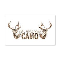 REAL GIRLS WEAR CAMO Wall Decal