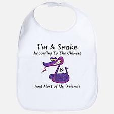 Funny Born Year of The Snake Bib