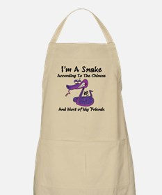 Funny Born Year of The Snake Apron