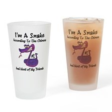 Funny Born Year of The Snake Drinking Glass