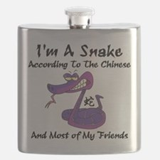 Funny Born Year of The Snake Flask
