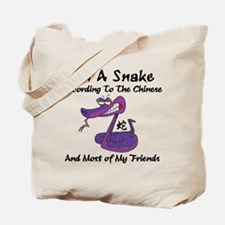 Funny Born Year of The Snake Tote Bag