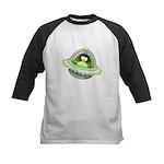 Space Penguin Kids Baseball Jersey