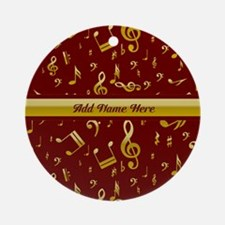 Personalized Red and gold musical notes Designer O