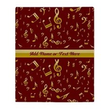 Personalized Red and gold musical notes Designer
