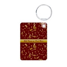 Personalized Red and gold musical notes Designer A