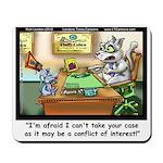 Greatest Feline Lawyer: Fluffy Cohen, Mousepad