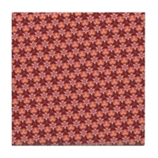 Mango Orange Pattern Tile Coaster