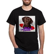 chocolate lover portrait T-Shirt