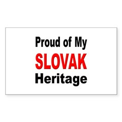 Proud Slovak Heritage Rectangle Decal