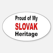 Proud Slovak Heritage Oval Decal