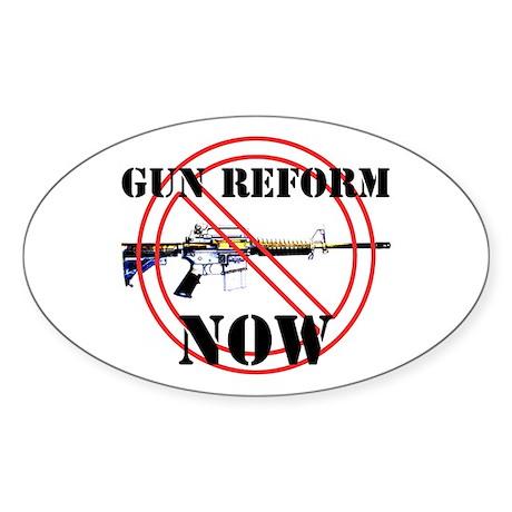 GUN REFORM NOW B Sticker (Oval)