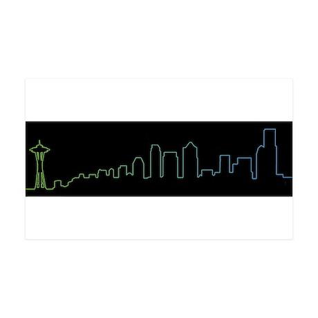 Seattle Skyline 35x21 Wall Decal