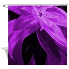 Purple Floral Abstract Shower Curtain