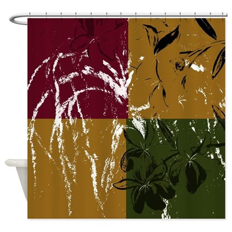 Neutral Earth Tone Shower Curtain By Markmoore