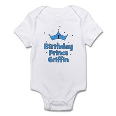 1st Birthday Prince Griffin! Infant Bodysuit