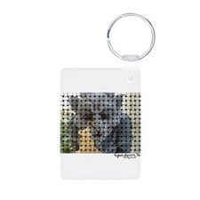 Woven picture Keychains