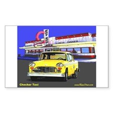 Checker Taxi Rectangle Decal