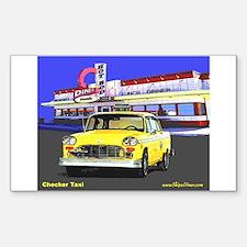 Checker Taxi Rectangle Decal