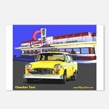 Checker Taxi Postcards (Package of 8)