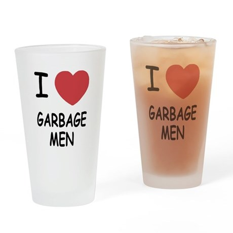 I heart garbage men Drinking Glass