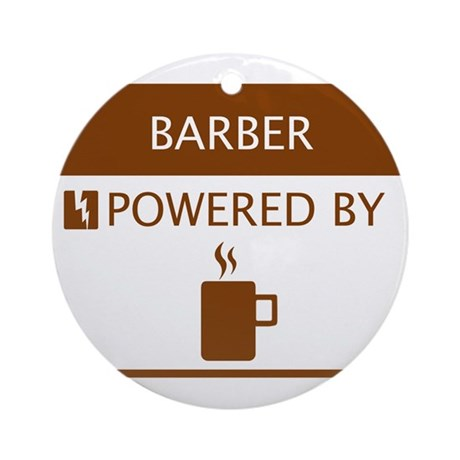 Barber Powered by Coffee Ornament (Round)