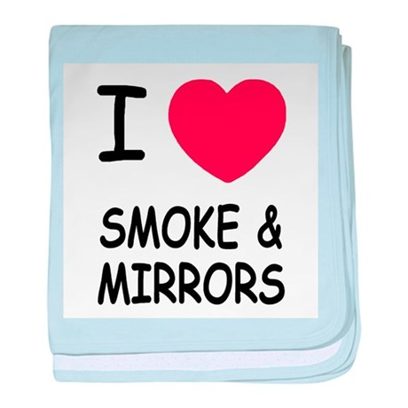 I heart smoke and mirrors baby blanket