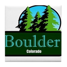 Boulder Colorado t shirt truck stop novelty Tile C