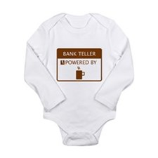 Bank Teller Powered by Coffee Long Sleeve Infant B