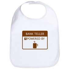 Bank Teller Powered by Coffee Bib
