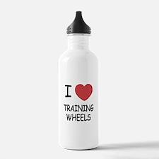 I heart training wheels Water Bottle