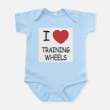 I heart training wheels Infant Bodysuit