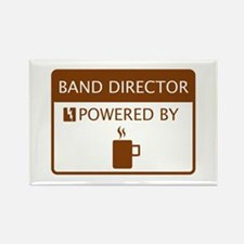 Band Director Powered by Coffee Rectangle Magnet