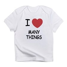 I heart many things Infant T-Shirt