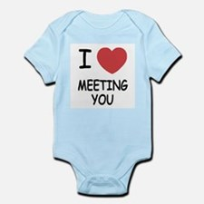 I heart meeting you Infant Bodysuit
