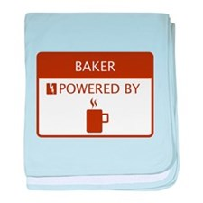 Baker Powered by Coffee baby blanket