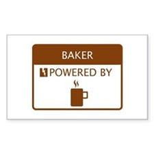 Baker Powered by Coffee Decal